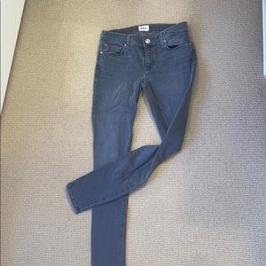 Hudson Mid-Rise Skinny Gray Jeans